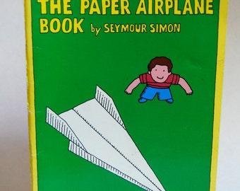 Vintage Children's Book, The Paper Airplane Book, Seymour Simon