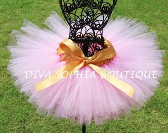 Pink and Gold Tutu - Newborn Baby Infant Tutu - Toddler Tutu - Girl Tutu