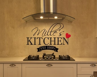 Personalized Kitchen Wall Decal  - Kitchen Decor - Wall Decal - Housewares - Vinyl Decal - Wall Decor - Wall Art - Kitchen Decal - Decals