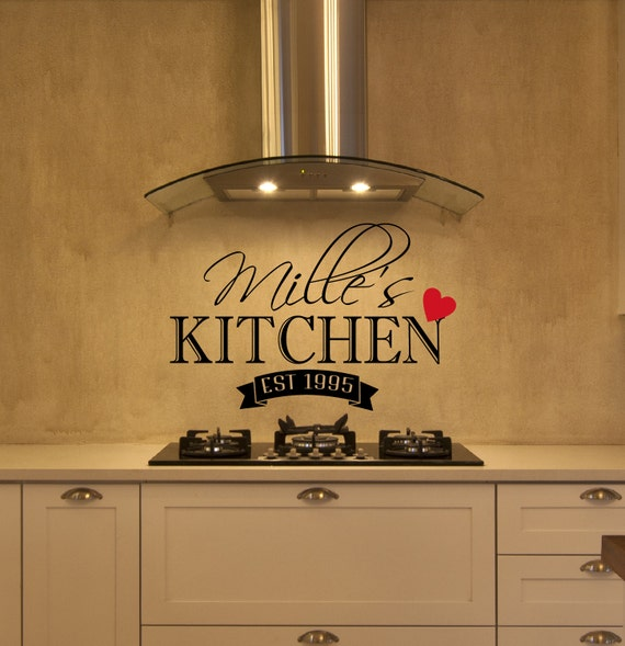 Items similar to personalized kitchen wall decal kitchen for Kitchen decor items