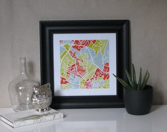 City of Charlottesville Map Print