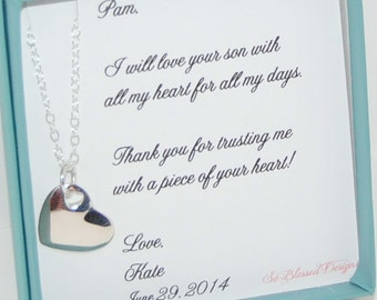 Bridal Shower Gift From Mother To Daughter. Mother Daughter Necklace ...