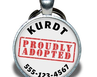 Pet ID Tag - Proudly Adopted