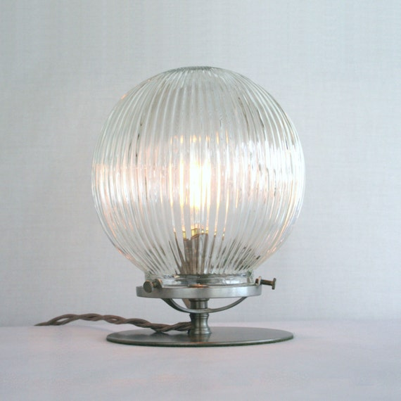 ribbed glass globe empyrean table lamp steampunk victorian lamp. Black Bedroom Furniture Sets. Home Design Ideas