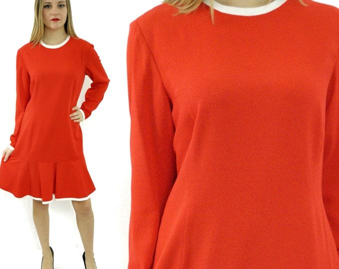Vintage 90s Ann Tjian for Kenar Petite Babydoll Mod Tunic Dress