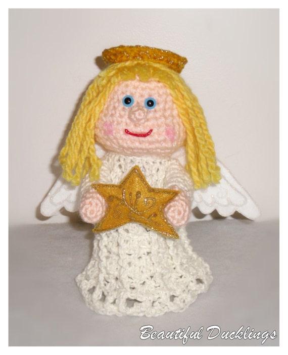 Angel Christmas Tree Topper PDF crochet PATTERN ONLY
