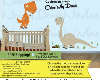 Dinosaur Decals, Dinosaur Wall Stickers, Dino Decals, FULL Trex (FULL_Trex_59_Bronto_63_Pter_91) DINO TRL