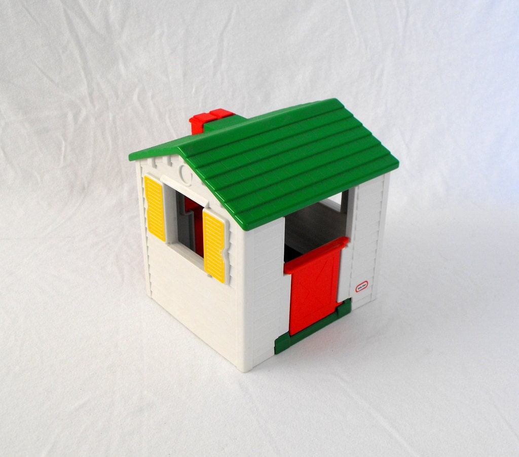 Vintage Little Tikes White Play House Dollhouse By