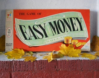 Game of Easy Money 1956 Milton Bradley VINTAGE Original Board Game