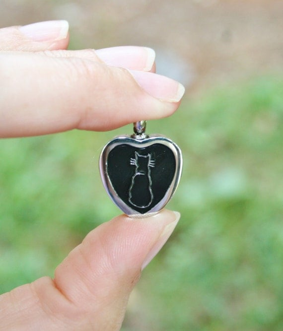 pet cat cremation jewelry urn for ashes pendant by. Black Bedroom Furniture Sets. Home Design Ideas