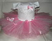 Tutu and Onesie, Tutu Outfit, Coming Home Outfit, Sequins Onesie Outfit, Photo Prop, Pageant, Baby Shower Gift