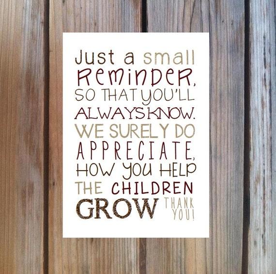 Teacher Appreciation Poems And Quotes. QuotesGram
