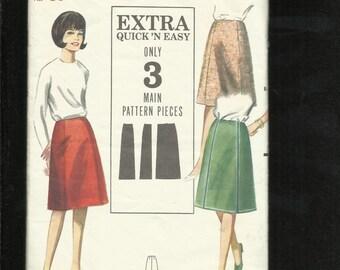 "Vintage 1960's Butterick 3509 Classic Retro ""A"" Line Skirt  Size 12"