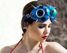 Hi Tek Alexander handmade futuristic modern steampunk  fallout cosplay cyberpunk gothic fashion stylist spiky unusual eyewear mask costume