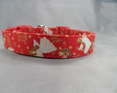 Christmas Dog Collar Angels on Red
