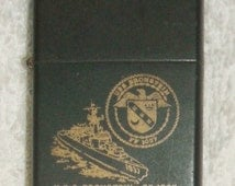 Zippo Lighter USS Bronstein FF 1037 Navy Frigate Black Matte Windproof Decommissioned  Military Escort Ship Collectible Naval Militaria