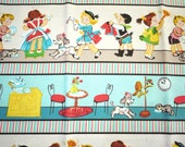 Housework Children Playing  - Fat Quarter Fabric Cotton Print