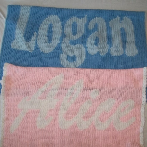 Crocheting Names On Blankets : Custom Personalized Crochet Baby Name Blanket, Baby Blanket, Baby ...