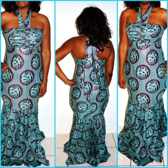 bleu robe de soir e africaine formelle robe robe par zabbadesigns. Black Bedroom Furniture Sets. Home Design Ideas