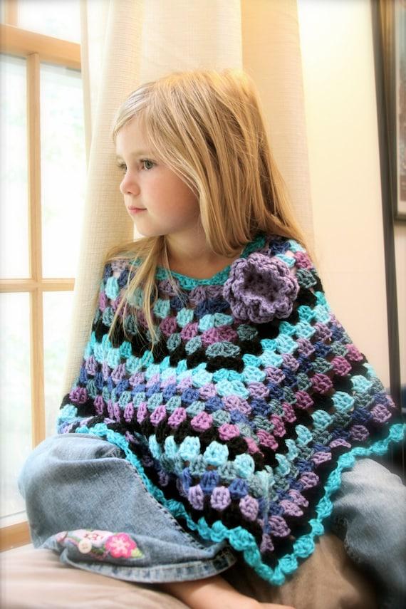Girl's Poncho/ Handmade Poncho/ Girl's Cape