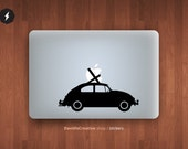 """VW Beetle macbook pro and air stickers decal for 13,15,17"""""""