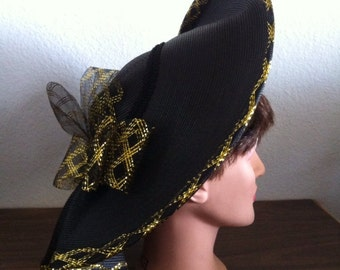 Vintage Ruffle Bow Hat