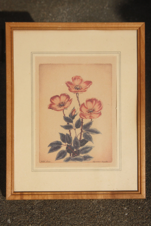 Lyman Byxbe Wilde Rose Very Rare 1886 1980 By Crownandswords