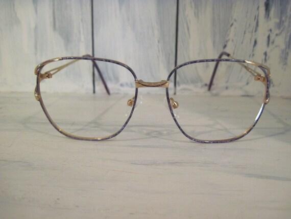 Vintage Golden Color Metal Eyeglasses Frames For Women Womens