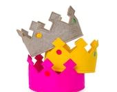 Adjustable Felt Crown: imaginative play, costume, dressing up, accessory