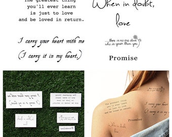 Words of Paradise - Temporary Tattoo (Set of 10)