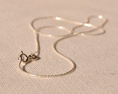 """Sterling Silver Chain, Finished 18"""" Necklace, Springring Clasp, .75mm Chain"""