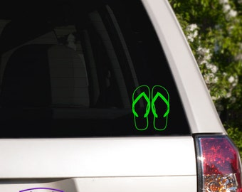 Flipflop outline Car Window Decal