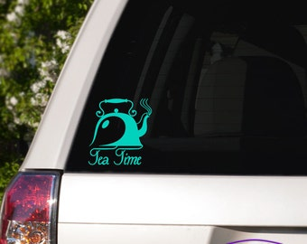 Tea Time Teapot Car Window Decal