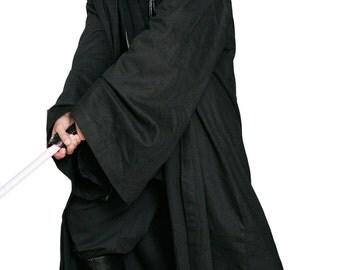 Star Wars Sith / Jedi Robe ONLY - Black - Replica Star Wars Costume - JRA 1426