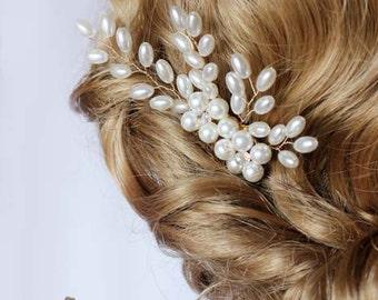 Wedding hair accessories Pearls Crystals Floral Hair Vine sprayComb  Bobbi Pin Bridal hair comb Bridal headpiece