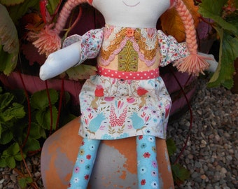 Hand made rag doll Maisie