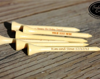 Personalized Laser Engraved Golf Tees, Custom Engraved Wood Golf Tees, Personalized Golf Tees for Dad, Anniversary Gift, Golf Gift GLF002N