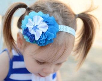 Starfish Headband, Blue Starfish Headband, Beach Headband, Baby Shower Gift, Newborn Photo Prop, Teen Headband, Adult Headband, Newborn