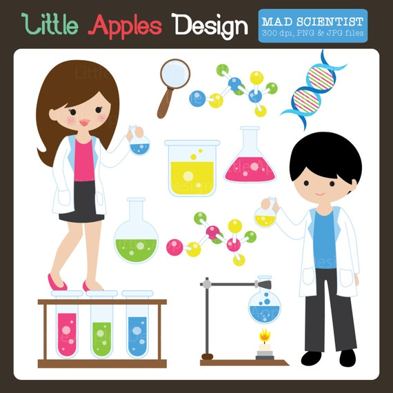 ... Clipart / Scientist Clipart / Scientist Clip Art / Chemistry Clipart