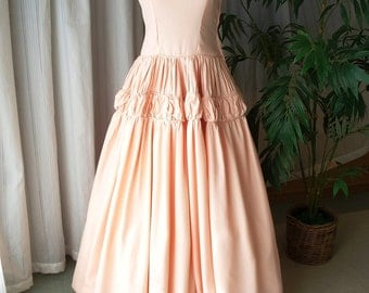 Evening Dress, Prom Dress, Party Dress, Bridesmaid Dress, Formal Dress, Wedding Dress, Emma Domb, 1940, Pink Dress, Wedding, Old Hollywood.