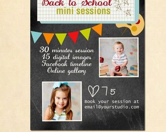 INSTANT DOWNLOAD - Back to School Photography Marketing board - MA068