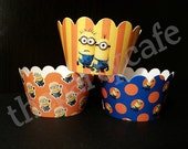 Despicable Me, Minion Inspired CUPCAKE WRAPPERS Party Kit (24) wrappers