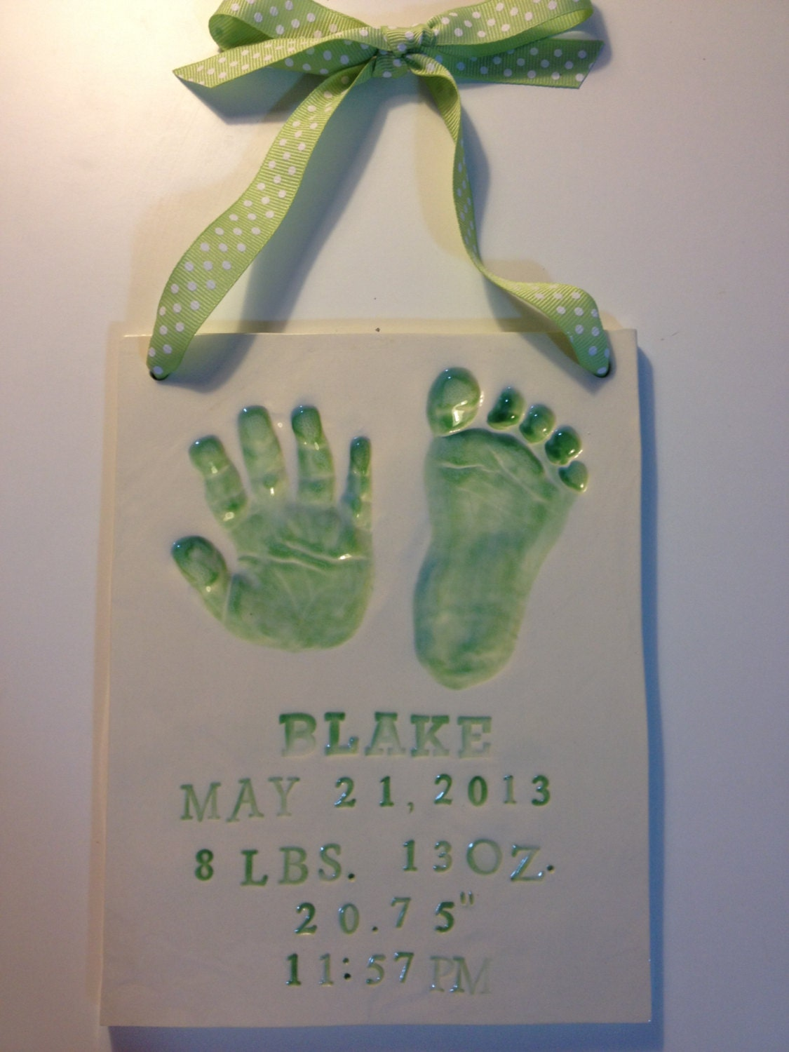 Newborn Baby Handprint Footprint Keepsake