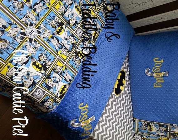 batman dc comics superhero nursery bedding baby toddler