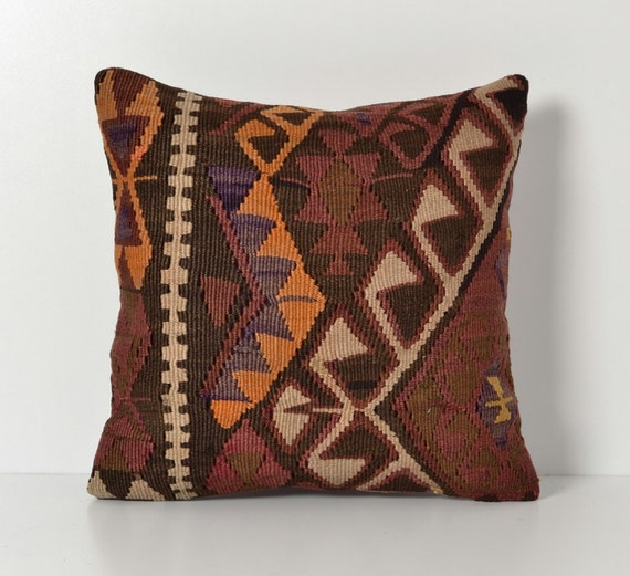 Vintage Kilim Pillow Cover Bohemian Style Home Decor by pillowme