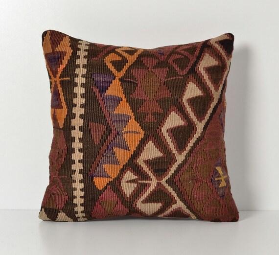 Bohemian Style Throw Pillows : Vintage Kilim Pillow Cover Bohemian Style Home Decor by pillowme
