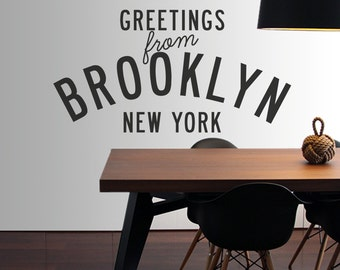 Greetings from Brooklyn New York Vinyl Decal
