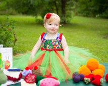 Hungry Little Caterpillar Butterfly Green Red Tulle Tutu Outfit Dress Costume