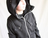 Children's Girl Boy Knight Hoodie size 2-4 CUSTOM MADE