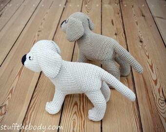 Labrador Puppy Amigurumi Pattern, Dog Crochet Pattern, Golden Retriever, lab toy pattern, softie plushie, baby shower, crochet art, Gus
